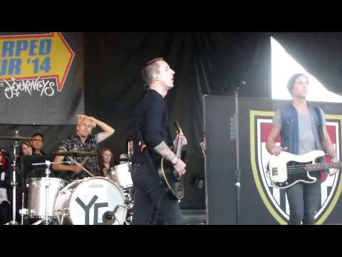 Yellowcard - Light Up The Sky - Vans Warped Tour 2014 @ Ventura, CA  06 22 14