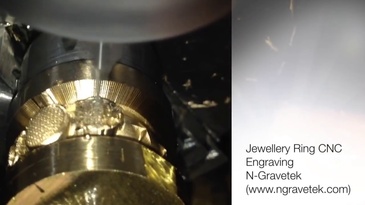 Jewellery Ring Engraving Using Cnc Youtube
