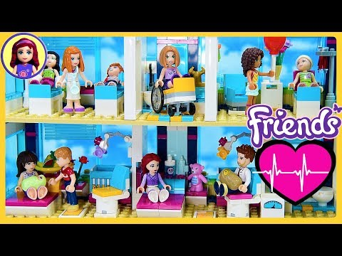 CUSTOM Heartlake Hospital Renovation Lego Friends Build DIY Kids Toys