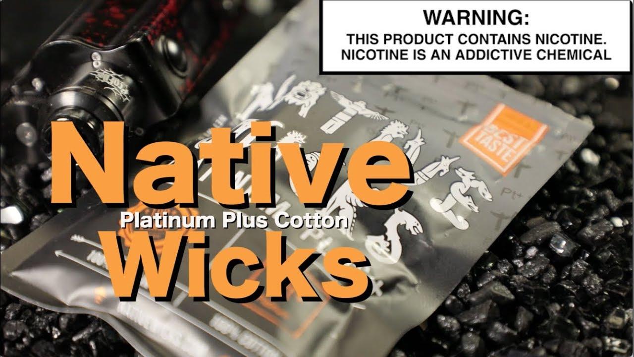 NATIVE WICKS Platinum Plus Cotton & Cookie Twist Liquids ~Vape Cotton  Review~