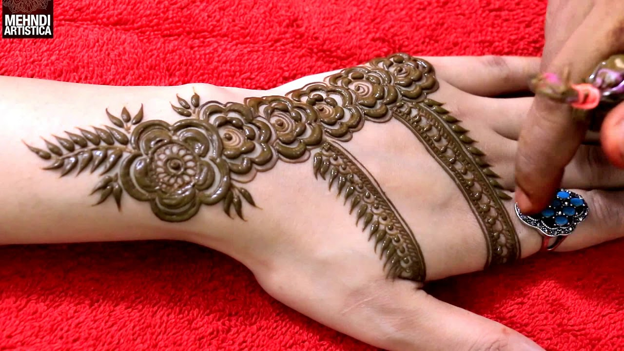 Dubai Mehndi Design For Hand Easy Way To Create Dubai Style Rose