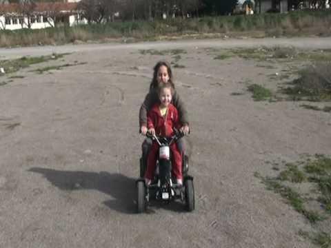 Φαίη 7 years old Mini atv 49cc 2