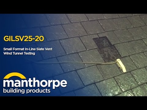 Manthorpe Building Products - Small Format In-Line Slate Vent - Wind Tunnel Testing