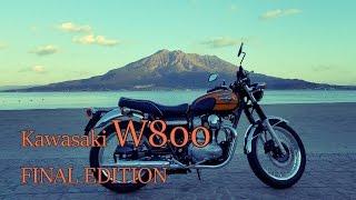 """""""Kawasaki W800 FINAL EDITION"""" First ride(at Kagoshima) 動画編集ソフ..."""