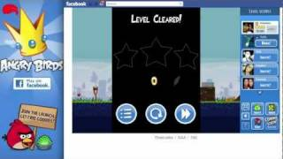 angry birds facebook level 1 6 poached eggs walkthrough 3 stars gameplay video turorial imac hd
