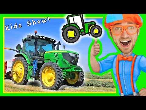 Thumbnail: Blippi with Tractors for Toddlers | Educational Videos for Toddlers with Nursery Rhymes