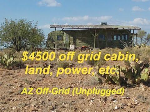 $4,500 AZ Off-Grid (Unplugged) Trailer & Land & Improvements & Cabin Living..