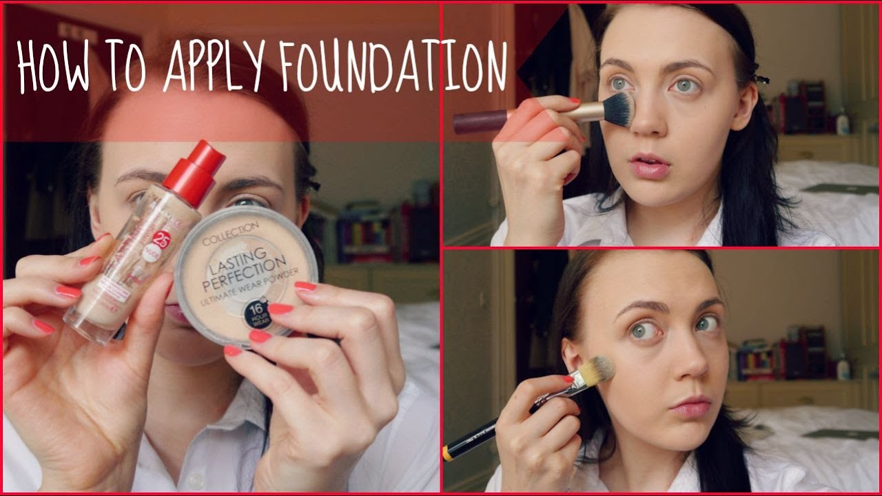 How To Apply Foundation - Makeup For Beginners - YouTube