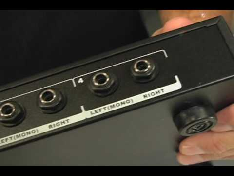 OSP HPA-400 4 Channel Headphone Line Zone Distribution Rackmount Mixer