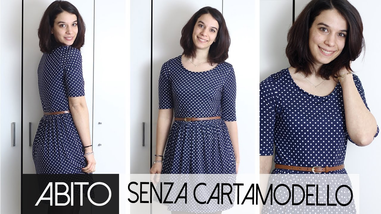huge selection of 22e0b 7e411 Abito con maniche corte e gonna arricciata | Senza cartamodello | Tutorial  cucito per principianti