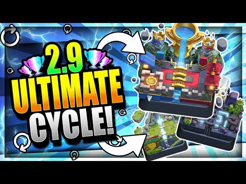 THE ULTIMATE 2.9 SUPER FAST CYCLE LADDER DECK!! Clash Royale Best Xbow Cycle Deck