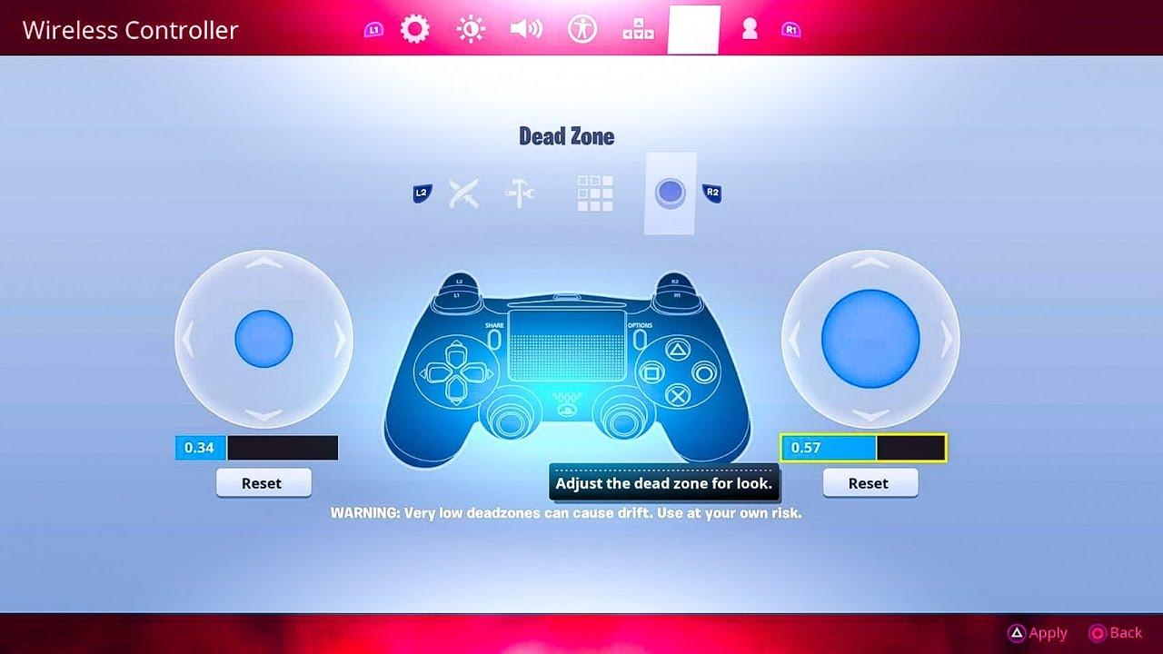dead zone on fortnite explained best dead zone for you fortnite new update ps4 xbox - fortnite deadzone drift