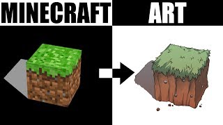 ARTIST TURNS MINECRAFT INTO ART (Drawing Hack for Backgrounds)