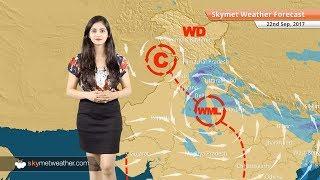 [Hindi] 22 सितम्बर मौसम पूर्वानुमान: दिल्ली में भारी बारिश; उत्तर प्रदेश, मध्य प्रदेश में बारिश