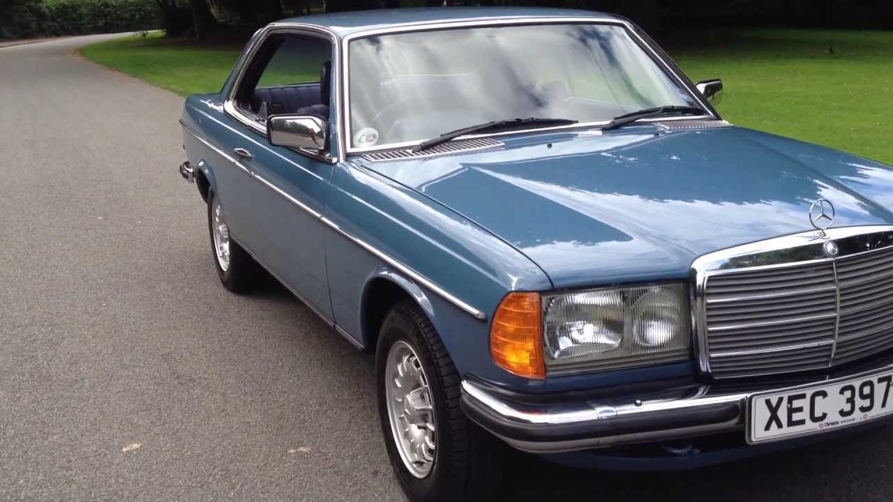 1983 mercedes 230ce automatic coupe w123 for sale youtube. Black Bedroom Furniture Sets. Home Design Ideas
