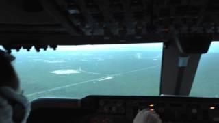 Посадка в а/п Пунта Кана Боинг 747-400 Авиакомпания Трансаэро