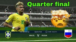 Brazil vs Russia | International Cup Quarter Final | Dream League Soccer 2018