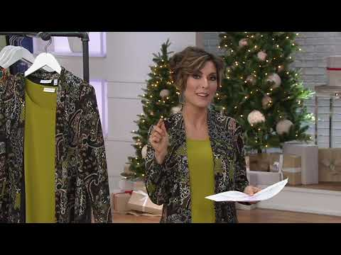 Susan Graver Novelty Knit Duster And Knit Tank Set On QVC