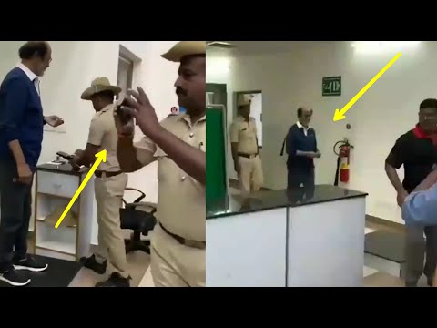 Police CRAZE For Rajinikanth At Mysore Airport After Man Vs Wild Shooting With Bear Grylls