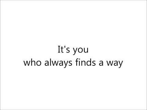 Josh Groban - With You (lyrics on screen)