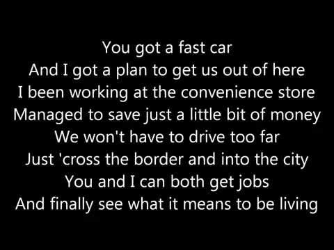 Michael Collings - Fast Car Lyrics HD (1080p)