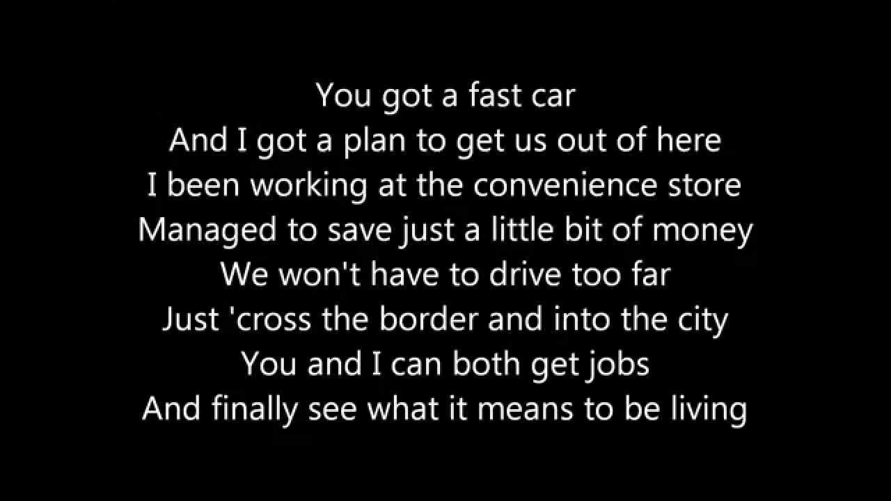 Michael Collings Fast Car Lyrics HD P YouTube - Fast car 2016 song