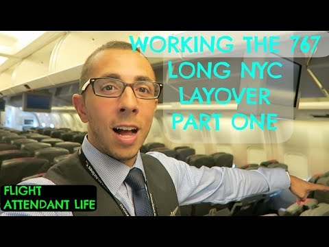 FLIGHT ATTENDANT LIFE | THE BOEING 767 | NYC LAYOVER | PART ONE
