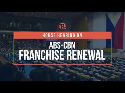 House hearing on ABS-CBN franchise renewal   Tuesday, June 30
