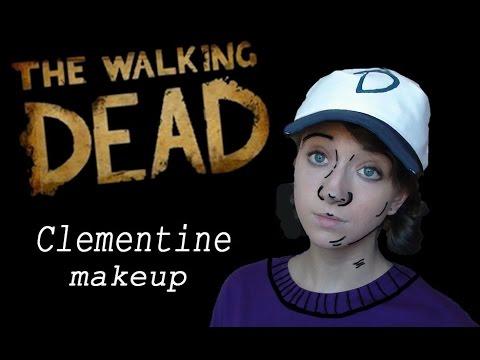 Clementine Halloween Makeup Tutorial The Walking Dead Game