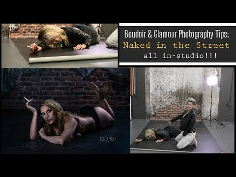 Boudoir Photography Tips: Naked In The Street (indoors!) | Vinyl Studio Backdrops W/Kat Armendariz