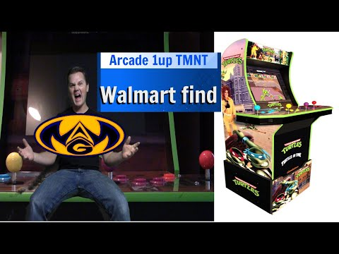 Arcade 1up TMNT Walmart find and review (What A Geek) from What a Geek