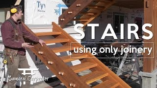 BUILDING WOOD STAIRS WITH NO NAILS!!