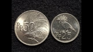 Indonesia 25 and 50 Rupiah Coins From 1971 - 2.2 Billion Minted