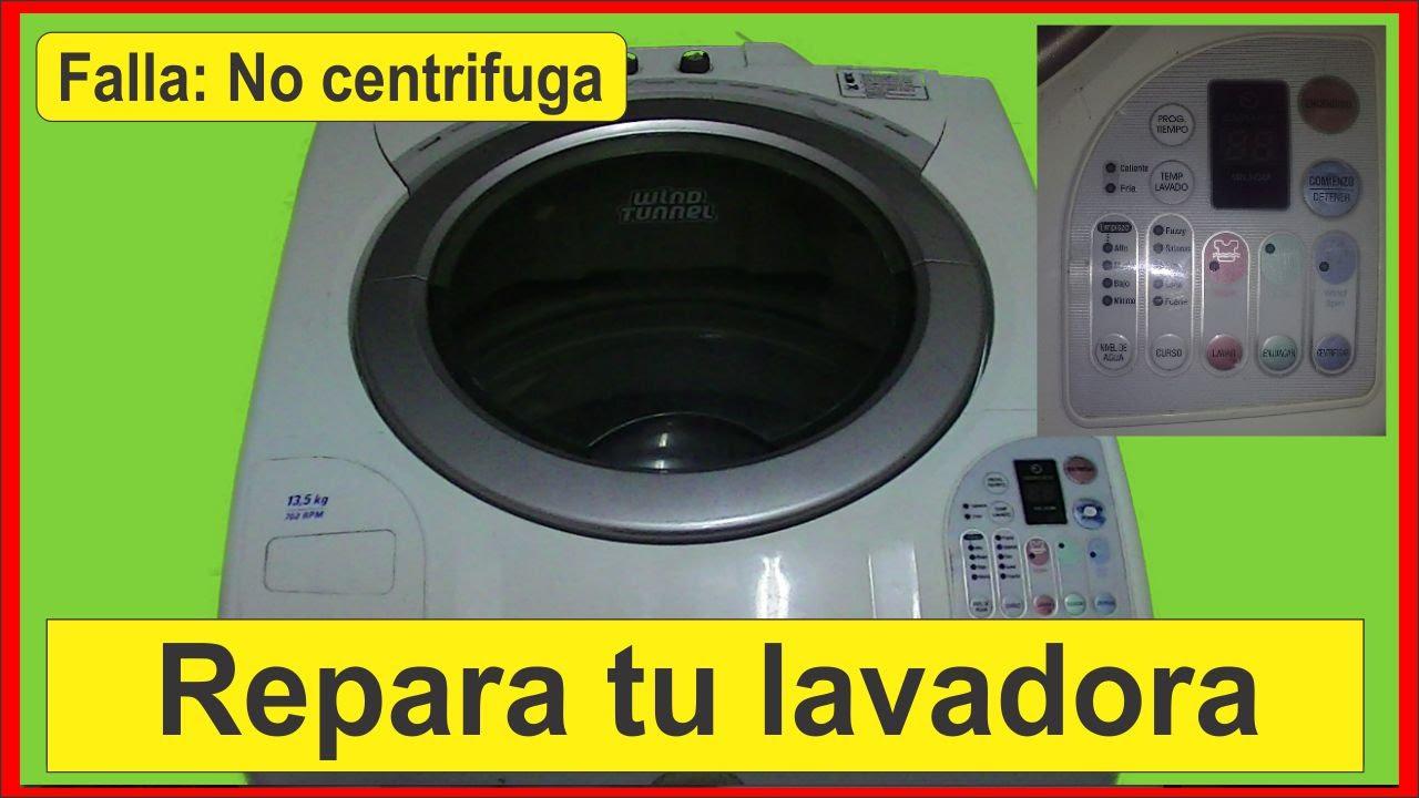 Reparación lavarropas falla el centrifugado Spin washing machine repair  fails