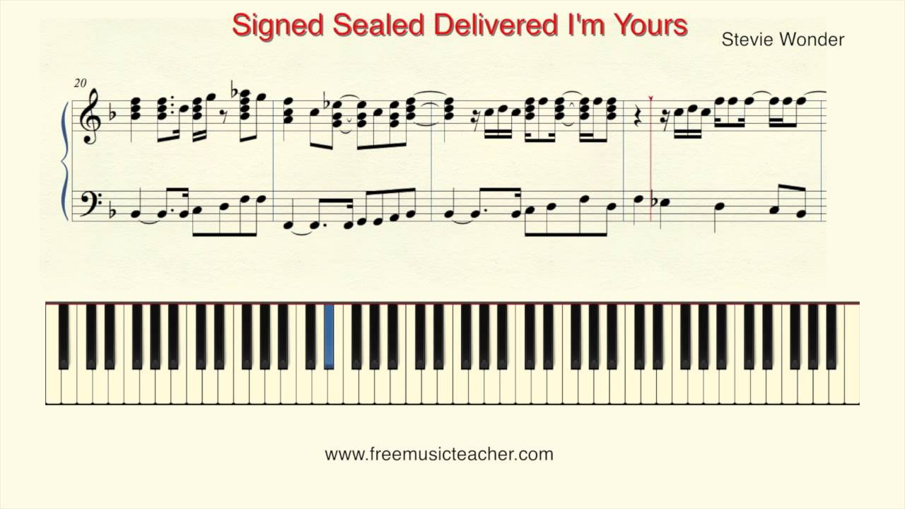 How to play piano stevie wonder signed sealed delivered im how to play piano stevie wonder signed sealed delivered im yours piano tutorial by ramin yousefi hexwebz Choice Image