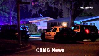 El Monte police chase a kidnap/carjacking suspect before taking him into custody. California.