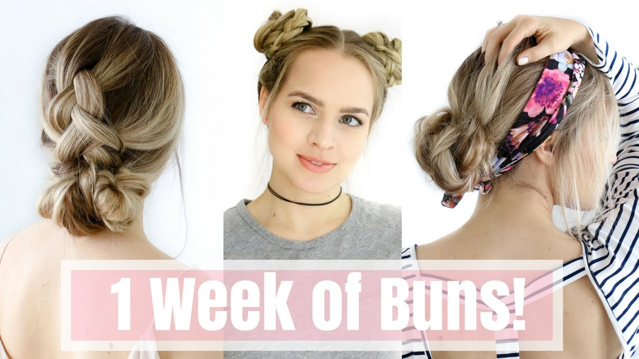 Day Hairstyles For Long Hair: 1 Week Of Bun Hairstyles