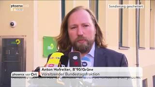 Anton Hofreiter und Winfried Kretschmann zum Scheitern der Sondierungsgespräche am 20.11.17