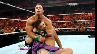 WWE Raw 6/4/12 John Cena vs Michael Cole (No DQ Match)