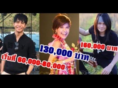 """14 อันดับ !! """"นักร้องลูกทุ่ง"""" ที่ค่าตัวแพงที่สุดในประเทศ เเถมไม่ใช่มีเงินเเล้วจะจ้างได้"""