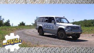 ⚙️ Mega Machines  POLICE CHASE  Cars for kids  Learning cars, trucks, excavators
