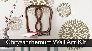 chrsanthemum wall art kit flower wall decals