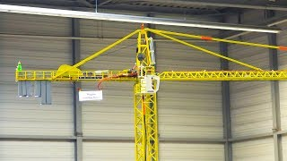 GIGANTIC RC MODEL ROTARY TOWER CRANE LIEBHERR IN DETAIL AND ACTION!!