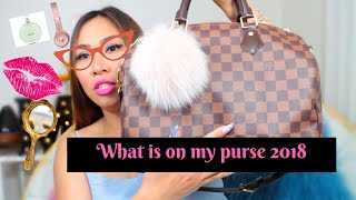 💐whats in my purse 2018 louis vuitton speedy 30 maureen scott 💐