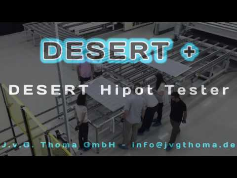 DESERT+ hipot is a must in solar production