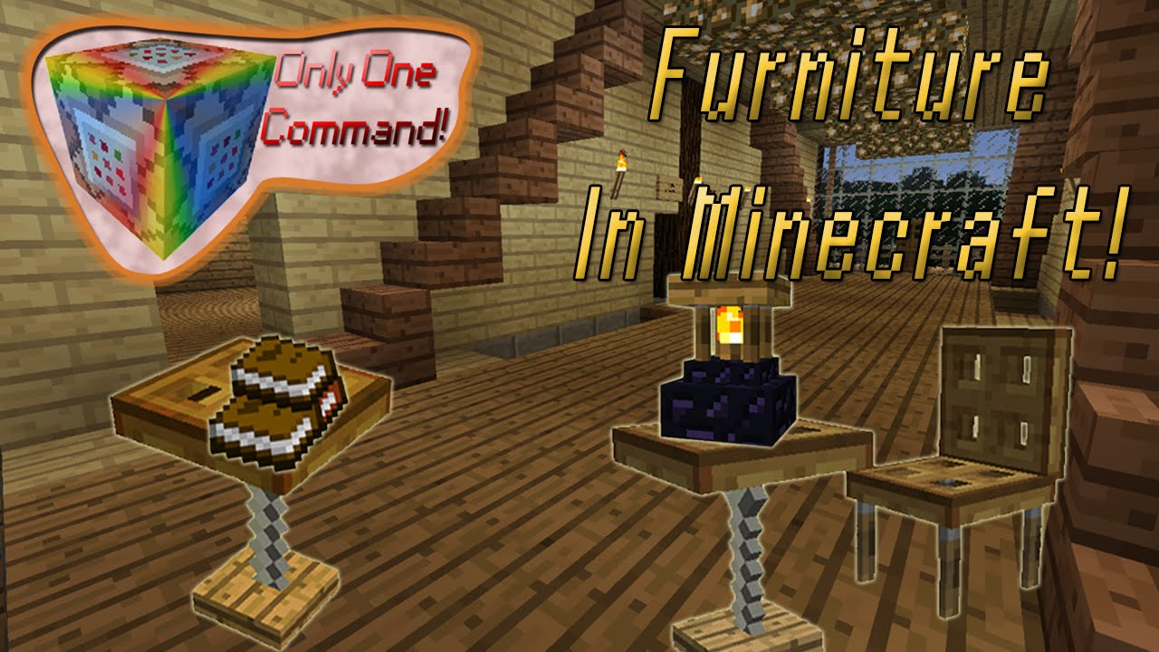 Furniture In Minecraft NO MODS Only One Command t