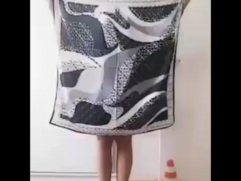 Как сделать модные платья из платка