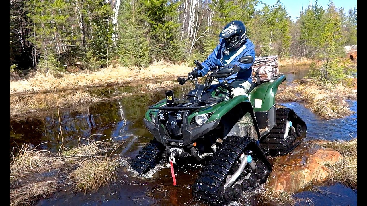 yamaha atv. yamaha atv grizzly 700 testing the tracks on rock snow sand and mud - may 5, 2013 youtube atv