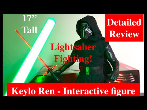 """17"""" Kylo Ren - Animatronic Interactive Figure by ThinkWay - Detailed Hands-On Review,"""