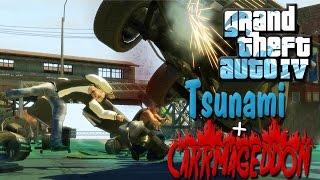 GTA IV Mods   Carmageddon + Tsunami   END OF THE WORLD!